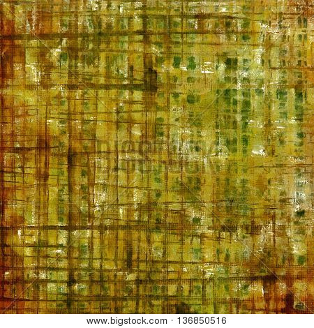 Oldest vintage background in grunge style. Ancient texture with different color patterns: yellow (beige); brown; gray; green; red (orange)