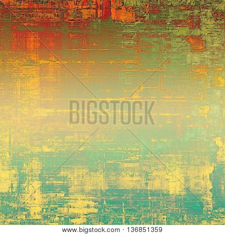 Abstract grunge weathered background of vintage texture. With different color patterns: yellow (beige); blue; green; red (orange); cyan