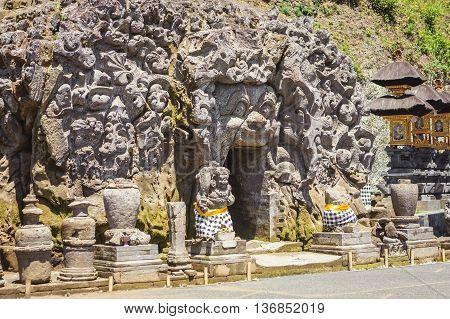 Goa Gajah Temple (The Elephant Cave ) in Bali Indonesia.