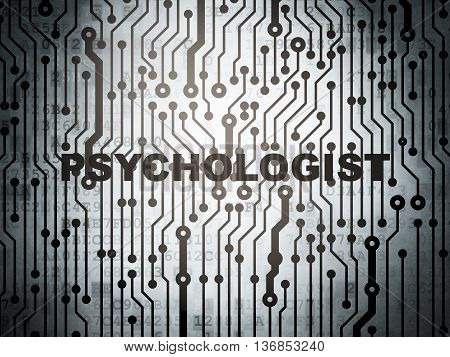 Medicine concept: circuit board with  word Psychologist, 3D rendering