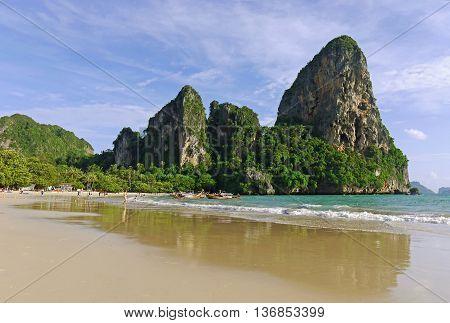 Beautiful view of Railay Beach, Krabi. THAILAND.