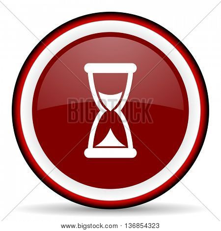 time round glossy icon, modern design web element