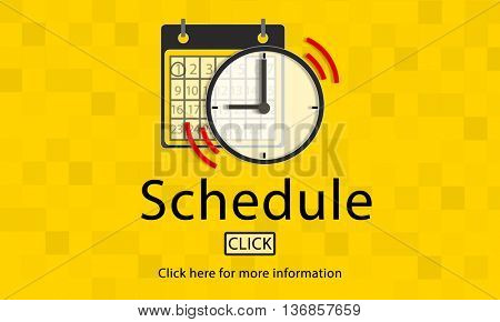 Notice Schedule Notes Important Task Concept