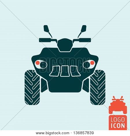 Quad bike icon. All terrain vehicle. Atv. Four wheeler. Vector illustration