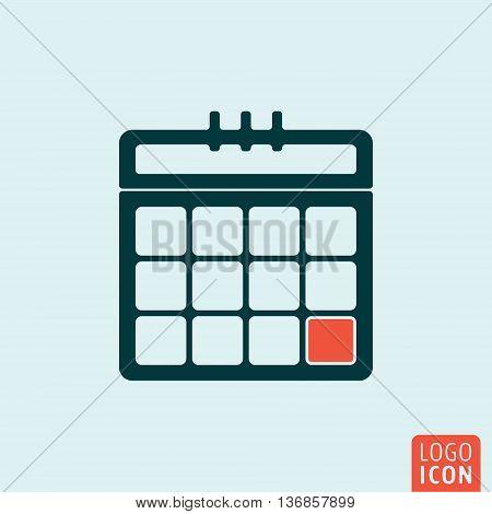 Calendar icon. Organizer page symbol. Vector illustration