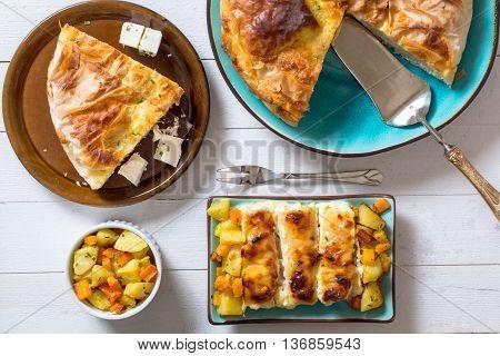 Burek And Chicken Meat