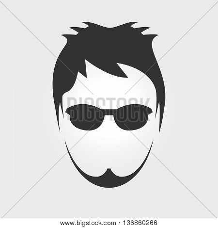 Men`s hairstyle. Isolated on background. Vector illustration.