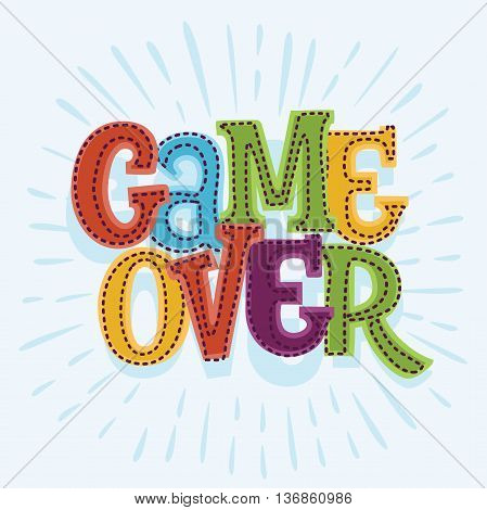 Cartoon vector Game Over icon illustration for user interface game