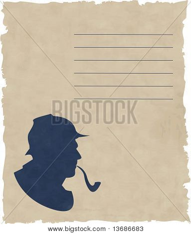 the vector silhouette pipe smoker