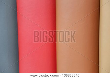 Different automotive seating leather colors
