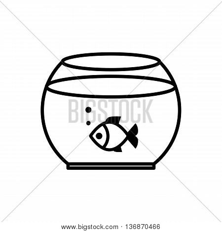 Fish Swimming In A Fish Bowl.