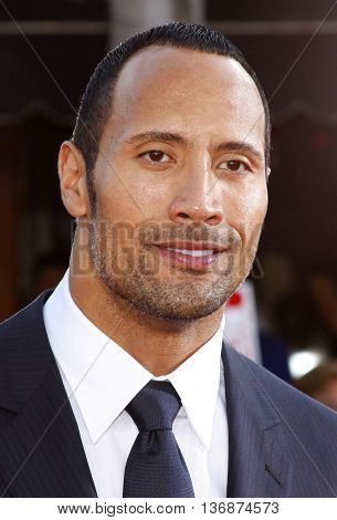 Dwayne 'The Rock' Johnson at the World premiere of 'Get Smart' held at the Mann Village Theater in Westwood, USA on June 16, 2008.