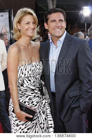 Steve Carell and Nancy Carell at the World premiere of 'Get Smart' held at the Mann Village Theater in Westwood, USA on June 16, 2008.