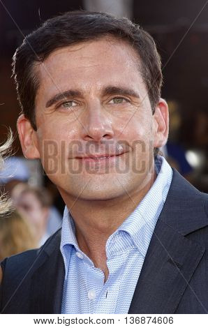 Steve Carell at the World premiere of 'Get Smart' held at the Mann Village Theater in Westwood, USA on June 16, 2008.