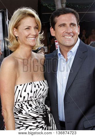 Steve Carell and Nancy Walls at the World premiere of 'Get Smart' held at the Mann Village Theater in Westwood, USA on June 16, 2008.