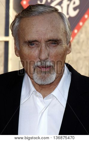 Dennis Hopper at the World premiere of 'Swing Vote' held at the El Capitan Theater in Hollywood, USA on July 24, 2008.