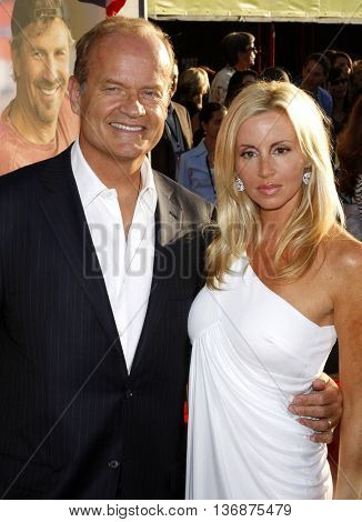Kelsey Grammer and Camille Grammer at the World premiere of 'Swing Vote' held at the El Capitan Theater in Hollywood, USA on July 24, 2008.