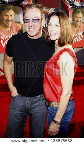 Tim Allen and Jane Allen at the World premiere of 'Swing Vote' held at the El Capitan Theater in Hollywood, USA on July 24, 2008.