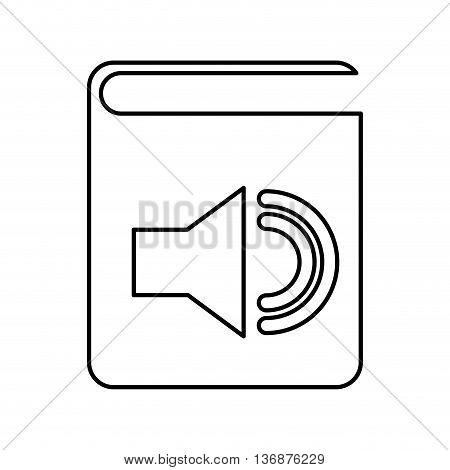 electronic book with speaker  isolated icon design, vector illustration  graphic