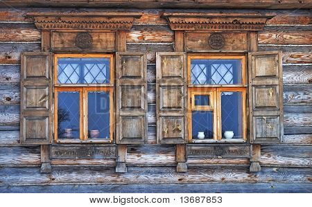 Two Windows In Old Country House