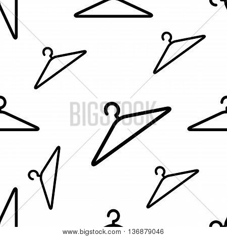 Clothes Hangers Seamless Pattern Silhouette