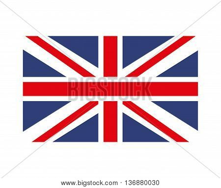 england flag isolated icon design, vector illustration  graphic