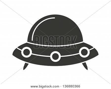 Baby toy spaceship isolated icon design, vector illustration  graphic