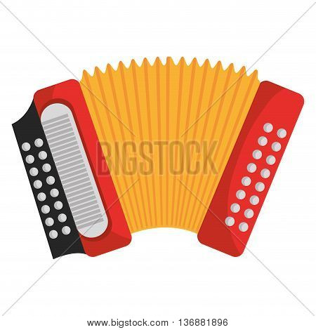 Accordion music instrument colorful icon design, vector illustration image.