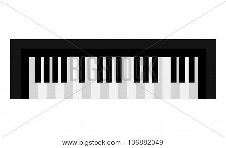 Piano keyboard music instrument icon design, vector illustration image.