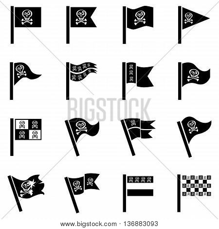 Pirate Flag Illustration For Design On White Background