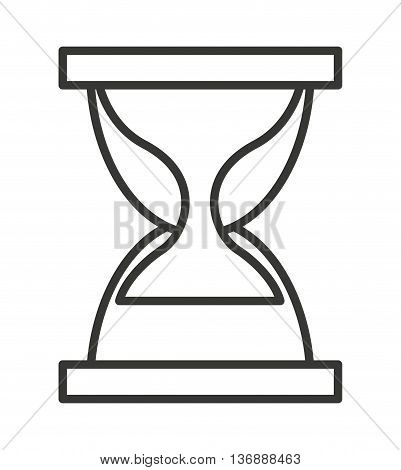 hour glass  isolated icon design, vector illustration  graphic