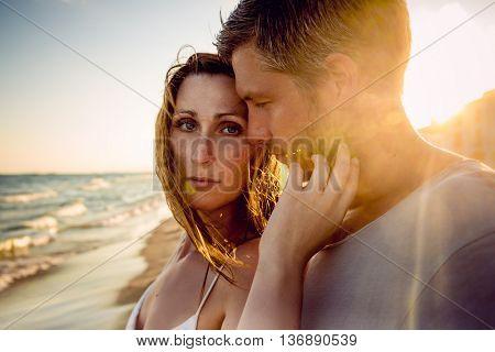 passionate boyfriend and girlfriend portrait