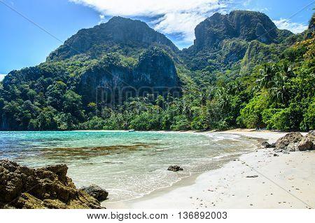 Tropican beach on Cadlao island El nido Palawan Philippines