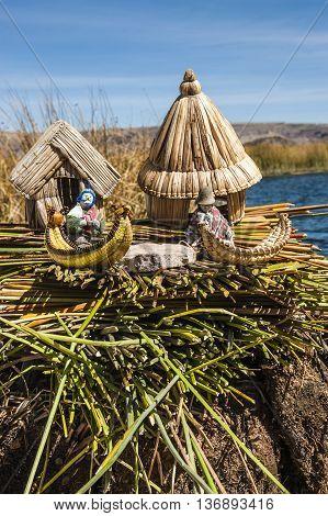 Uros - Traditional  Floating Islands Titicaca Peru