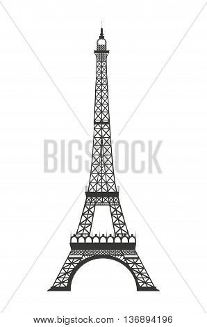 eiffel tower isolated icon design, vector illustration  graphic