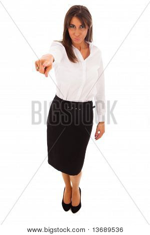 Business Woman Pointing