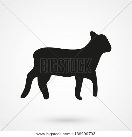 Lamb Icon On White Background In Flat Style. Simple Vector Illustration