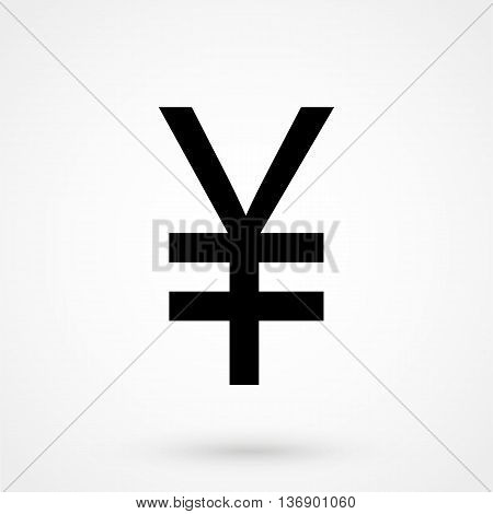 Yen Icon On White Background In Flat Style. Simple Vector Illustration