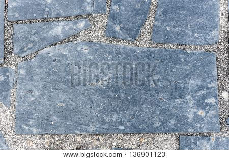 Natural Paving Stone Slabs Flor, Walkway Or Sidewalk Texture.