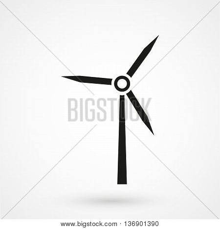 Wind Power Icon On White Background In Flat Style. Simple Vector