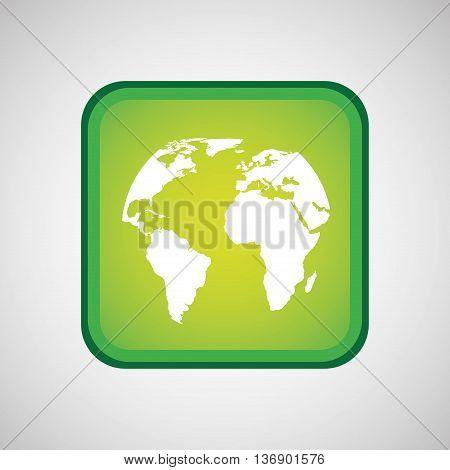 maps in square button isolated icon design, vector illustration  graphic