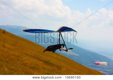 Competitor of the Dutch Open-2010 hang gliding competitions