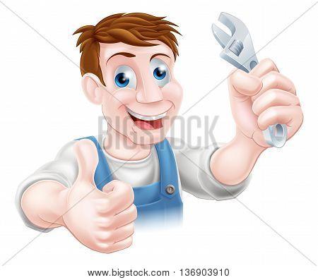 Plumber Or Mechanic Cartoon