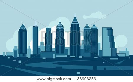 Vector skyline of the city of Atlanta