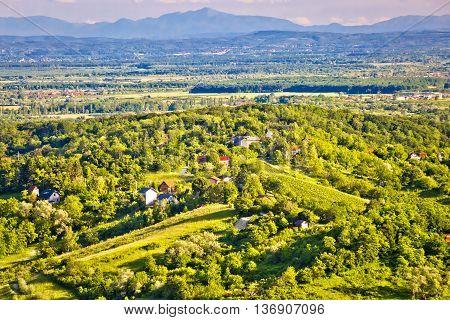 Zumberak hills green landscape view northern Croatia