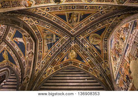 Details Of The Battistero Di San Giovanni, Siena, Italy