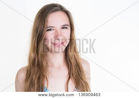 Portrait Of An Attractive Fashionable Young Blond Woman.