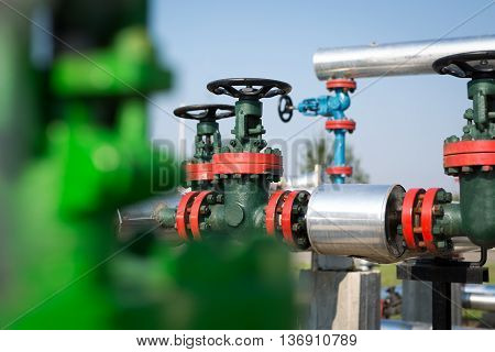 Oil and gas pipe line valves in the oil industry