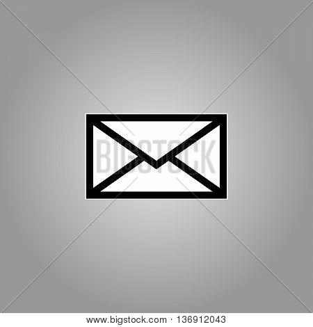 Email symbol letter icon - vector, flat design. Eps 10.