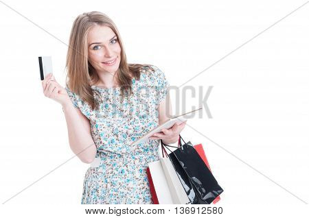 Online Shopping Payment Concept With Young Shopper